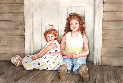 Redheads Wall Art - Painting - Sayler And Tayzlee by Sam Sidders