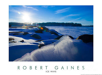 Photograph - Saylorville Lake Ice Wave by Robert Gaines