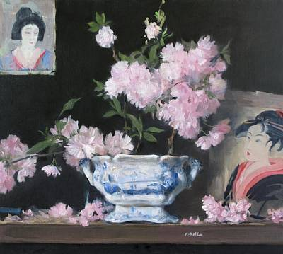 Painting - Sayonara To Spring, Cherry Blossoms by Robert Holden