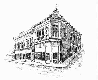 Drawing - Sayr Building Historic Philipsburg Montana by Kevin Heaney