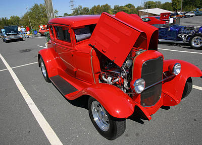Photograph - Sc Car Show -- 10/14/2006 Red by Joseph C Hinson Photography
