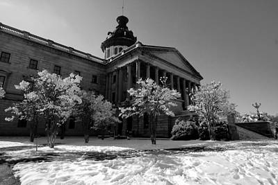 Photograph - Sc State House In Black And White 20 by Joseph C Hinson Photography