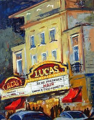 Scad Painting - Lucas Theatre by Karen Mayer Johnston