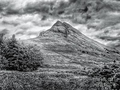 Photograph - Scafell Pike In Greyscale by Joan-Violet Stretch