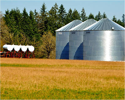 Jerry Sodorff Royalty-Free and Rights-Managed Images - Scafo Grain Bins 7251 by Jerry Sodorff