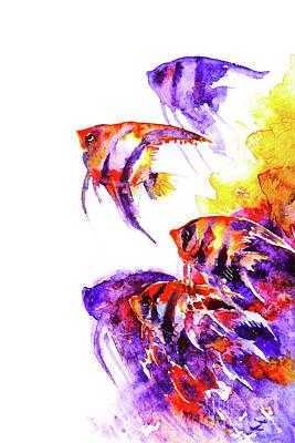 Painting - Scalare Flow by Zaira Dzhaubaeva