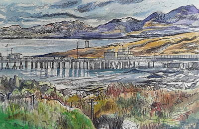 Pap Painting - Scalasaig Pier, Isle Of Colonsay by Rosalind Jewell