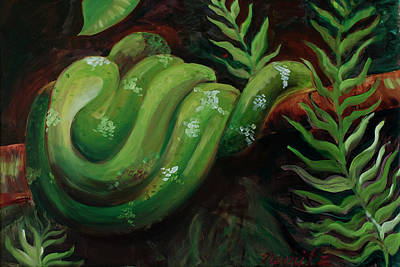 Snake Scales Painting - Scales by Nicole Nemitz