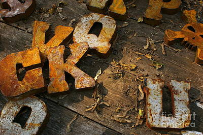 Photograph - Scambled Letters by Randy Pollard