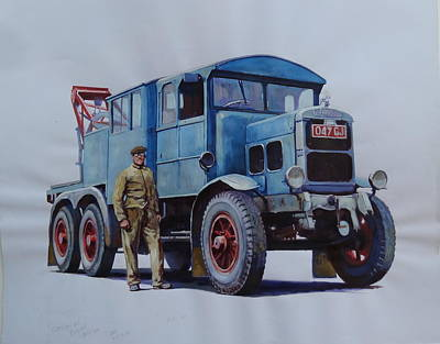 Scammell Wrecker. Art Print by Mike Jeffries