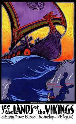 Mixed Media - Scandinavia Vintage Travel Poster Restored by Carsten Reisinger