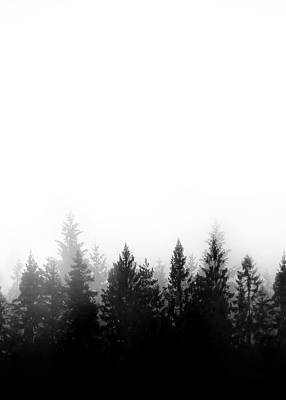 Black And White Mixed Media - Scandinavian Forest by Nicklas Gustafsson