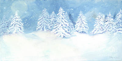 Painting - Scandinavian Winter Snowy Trees Hygge by Audrey Jeanne Roberts