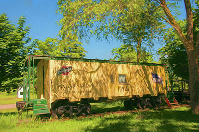 Photograph - Scandy Northwestern Caboose by Trey Foerster