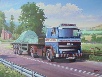 Painting - Scania Lloyds Of Ludlow by Mike Jeffries
