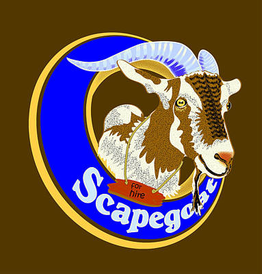 Digital Art - Scapegoat For Hire by Laura Brightwood