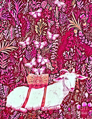 Digital Art - Scapegoat Healing In Fuchsia by Lise Winne