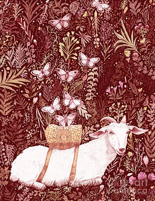 Digital Art - Scapegoat Healing Tapestry Print by Lise Winne