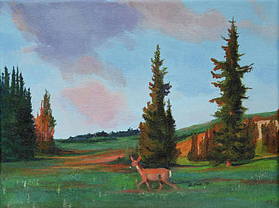 Wall Art - Painting - Scapegoat Summer Sunset by Pam Little