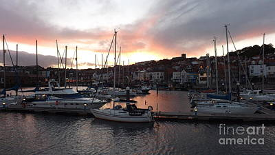 Photograph - Scarborough Harbour Sunset by John Bailey Photos