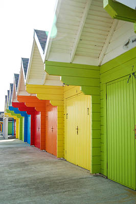 Scarborough Beach Huts Art Print