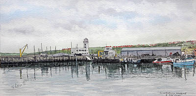 Painting - Scarborough Fish Quay by George Levitt