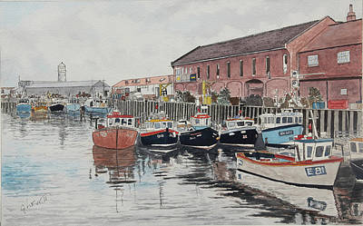 Painting - Scarborough Fishquay by George Levitt