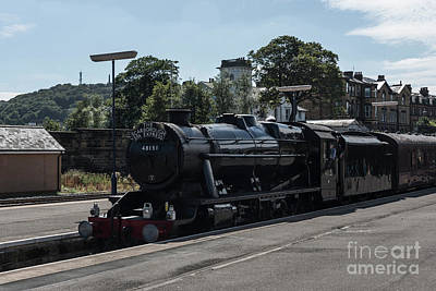 Photograph - Scarborough Spa Express Arrival by David  Hollingworth