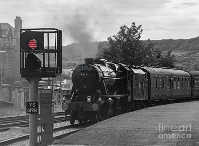Photograph - Scarborough Spa Express  Departs For The Sidings by David  Hollingworth