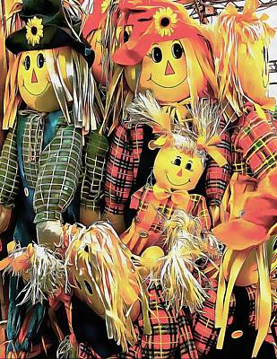 Photograph - Scarecrow Family by Dorothy Berry-Lound