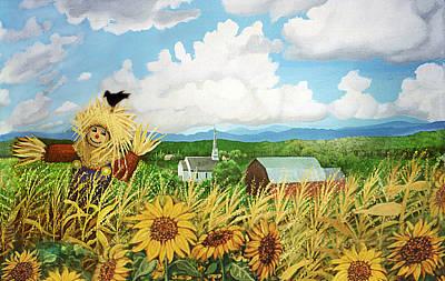 Scarecrow Farm Art Print