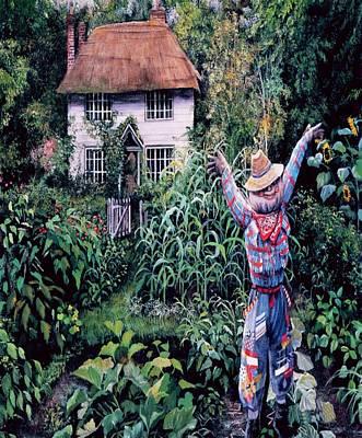 Painting - Scarecrow Garden by Sheila Mcdonald
