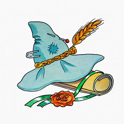 Diploma Painting - Scarecrow Hat From Wizard Of Oz by Irina Sztukowski