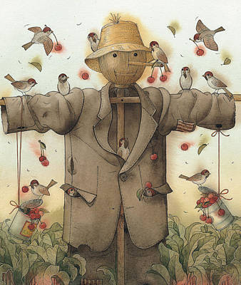 Painting - Scarecrow  by Kestutis Kasparavicius