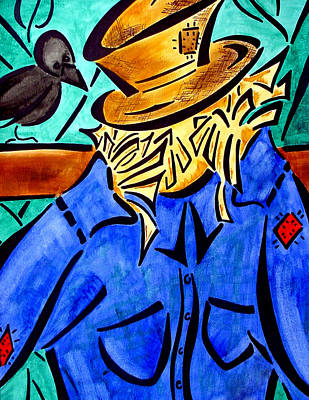 Scarecrow Art Print by Meilena Hauslendale