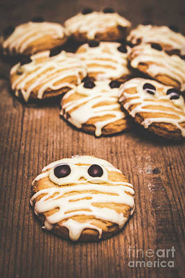 Frightening Photograph - Scared Baking Mummy Biscuit by Jorgo Photography - Wall Art Gallery
