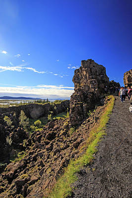 Photograph - Scared Earth At The Mid-atlantic Rise In Thingvellir, Iceland by Allan Levin
