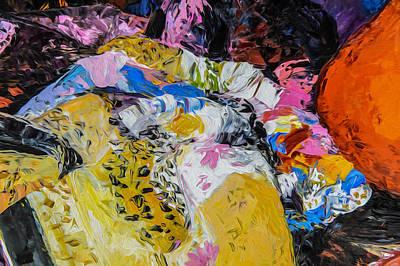Digital Art - Scarf  Patterns-enhanced by Judith Barath