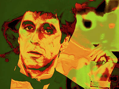 Scarface Mixed Media - Scarface 7e by Brian Reaves
