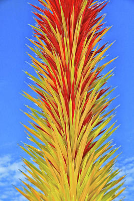 Photograph - Scarlet And Yellow Icicle Tower # 2 by Allen Beatty