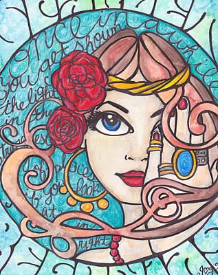 Painting - Scarlet Begonias by Jennifer  Love-Gironda