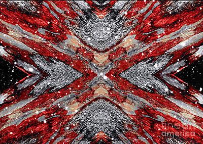 Painting - Scarlet Entanglement by Jolanta Anna Karolska