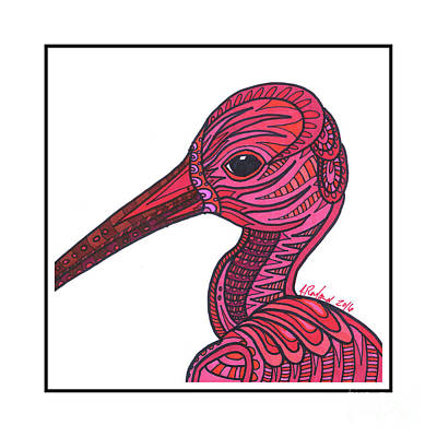 Ibis Mixed Media - Scarlet Ibis #8 by Allie Rowland