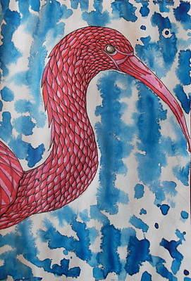 Ibis Mixed Media - Scarlet Ibis by Brandon Loucks