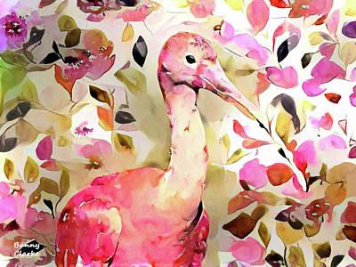 Ibis Digital Art - Scarlet Ibis by Bunny Clarke