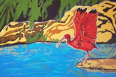 Painting - Scarlet Ibis by Rachel Natalie Rawlins