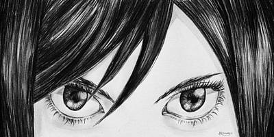 Tears Drawing - Scarlet by Kacey Thorn