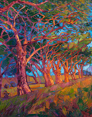 Impressionism Painting - Scarlet Light by Erin Hanson