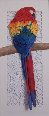 Macaw Mixed Media - Scarlet Macaw by Robert Sewell