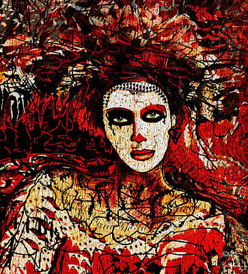 Seductive Mixed Media - Scarlet by Natalie Holland
